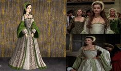 Anne of a thousand Days. I thought this dress was very pretty and I tried my best recreating it on the doll maker. Anne Boleyn: Green and white Dress Wives Of Henry Viii, Tudor Dynasty, Doll Divine, Queen Of England, Tudor History, Anne Boleyn, Fantasy, The Dress, Photo Galleries
