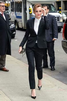 Emma Watson - she looks better in a suit than I do!