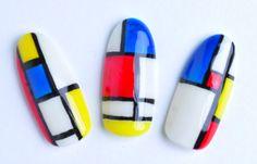 Mondrian nail