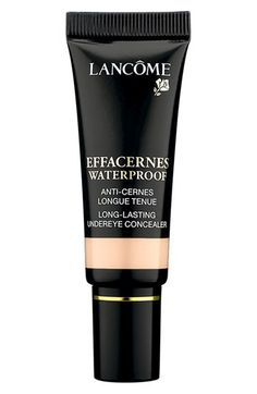 Free shipping and returns on Lancôme 'Effacernes' Waterproof Protective Undereye Concealer at Nordstrom.com. Lancôme Effacernes Waterproof Protective Undereye Concealer is a natural coverage concealer that lets you instantly eliminate tell-tale signs of stress and fatigue. It provides complete, natural-looking coverage, evens skin tone, covers dark circles and minimizes fine lines around the eyes, leaving behind a soft, matte finish. The long-wear, waterproof formula won't crease or…