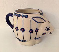 Rabbit Coffee Mug Yokohama Studio Miyabi HandPainted 3D Figural Bunny Rabbit NEW | eBay