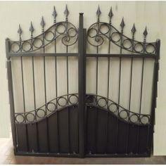 Wrought Iron Pedestrian Gate. Customize Realisations. 083 Wrought Iron Driveway Gates, Gate Design, Pedestrian, Pergola, Applique, Villa, Home Decor, Home, Doors