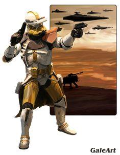 Clone Wars - Clone Commander by Galeart.deviantart.com on @deviantART