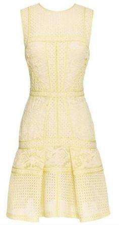 paneled lace dress