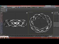 3d Tutorial | Voronoi Style Bracelet | 3dsmax - YouTube