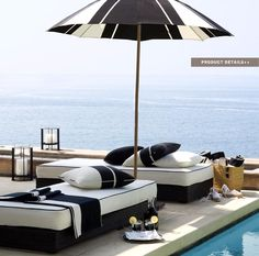 Ralph Lauren Home Black Sands Collection Nautical Black and White Modern Beach Style