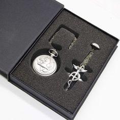 Vintage Full Metal Alchemist Edward Elric Quality Premium Time Keeper