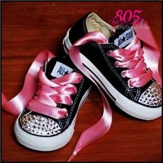 SPARKLE SHOES  blinged TODDLER converse by DesignCo805 on Etsy, $70.00 #ETSY