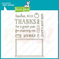 Lawn Fawn Clear Stamp - A Good Apple