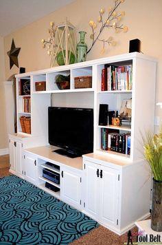 Hometalk :: Media Center With Toy Storage Drawers