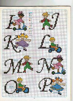 Schema Punto Croce Alfabeto Bambini 2