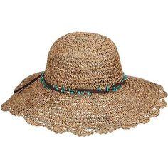4f3ef9ff3a2 Scala Womens Seagrass Beaded Sun Hat