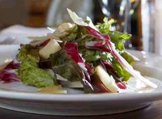 Roasted pear, radicchio and hazelnut salad with parmesan and a red ...