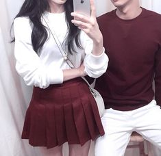 20 Fashion Ideas Couple Couple Outfit Sweet Korean Couple Style show thexxxy Brand Picture 9 - Today Pin - Edgy Outfits, Korean Outfits, Cute Outfits, Fashion Outfits, Rock Outfits, Fashion Ideas, Matching Couple Outfits, Matching Couples, Family Outfits