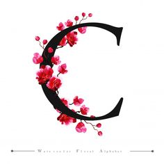 C Alphabet Letter Watercolor Floral Background Vector and PNG Monogram Wallpaper, Alphabet Wallpaper, Floral Letters, Monogram Letters, White Letters, Red Texture Background, Logo Background, Watercolor Background, Floral Watercolor