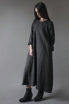 Linen Oversized Dress   Nuances Collection by Kesa   www.atelierkesa.com