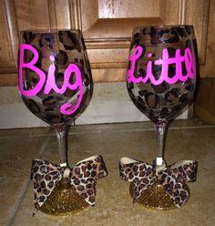 Big/Little Wine Glass! Sorority Craft!