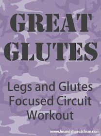 He and She Eat Clean: Sunday Shred :: Great Glutes - Leg and Glutes Workout