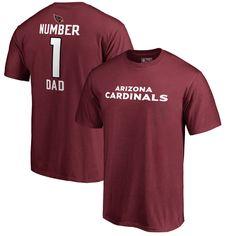 Arizona Cardinals NFL Pro Line Number 1 Dad T-Shirt - Cardinal