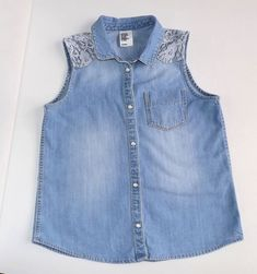 Denim love :) --> Check out Shpock for more great denim style Denim Fashion, Outfit, Denim Style, Tops, Jackets, Stuff To Buy, Check, Women, Vest
