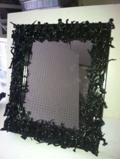 Plastic figurines glued to a mirror frame and spray painted (pictured, with Army men). Via Etsy. Boys Army Room, Boy Room, Child's Room, Kids Room, Camo Rooms, Camouflage Bedroom, Army Bedroom, Hunting Bedroom, Army Decor