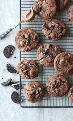 Healthy Cookie Recipes, Healthy Cookies, Vegan Desserts, Baking Recipes, Delicious Desserts, Dessert Recipes, Yummy Food, Nutella Cookies, No Bake Cookies