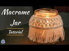 In this Tutorial you will learn more about Mason Jar DIY Crafts.I'll show you how to make macrame Mason Jar cover decoration. Chalk Paint Mason Jars, Painted Mason Jars, Diy Hanging Shelves, Diy Wall Shelves, Mason Jar Projects, Mason Jar Crafts, Diy Home Decor Projects, Diy Projects To Try, Craft Projects