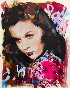 + info CLARA BOW gallery http://www.streetartcinema.com/#!clara-bow/c1h7b #streetartcinema #streetart #cinema #stencil #ClaraBow #Btoy