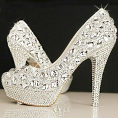 2015 new women fashion high heels prom wedding shoes ladies crystal platforms silver Glitter rhinestone studded wedge party pump-in Women's Pumps from Shoes on Aliexpress.com | Alibaba Group