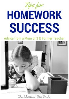 Tips for Homework Success for Kids.  Finding ways to establish a good homework routine and how to support your child with their homework.