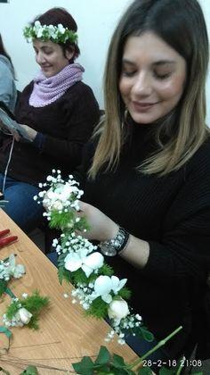 Floral Art  Seminars SANKA   Wire Techniques by Dimitris Papadakis  Floral Crowns