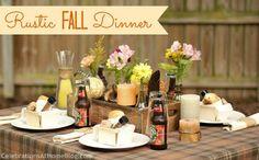 Rustic Fall dinner/entertaining