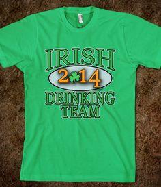 IRISH DRINKING TEAM 2014 ST PATRICKS DAY TEE