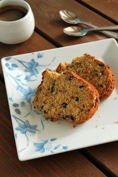 Κέικ με ταχίνι, πορτοκάλι και κομμάτια σοκολάτας