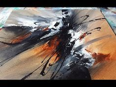 Abstract acrylic painting     Black and White   Abstrakte Acrylmalerei Schwarz und Weiß - YouTube