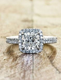 Stunning Square Engagement Ring.