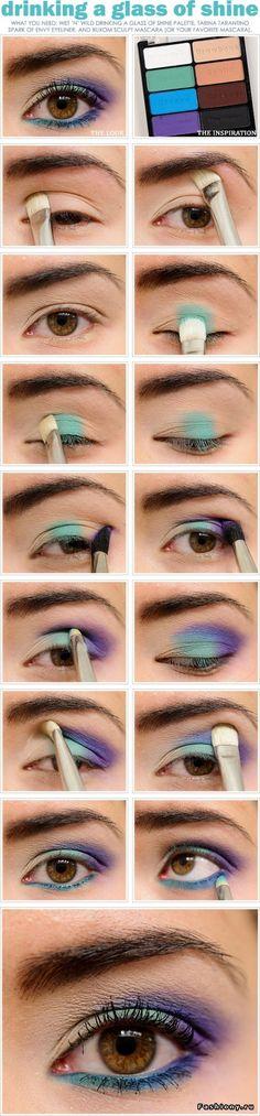 Фото-уроки макияжа / как красиво накрасить глаза фото уроки