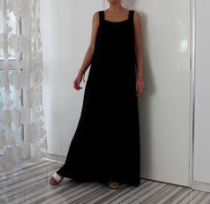 Maxi negro vestido sin mangas vestido largo maxi vestido / vestido de verano / Plus tamaño Vestido de /Party Vestido de verano vestido / vestido de tirantes vestido Casual