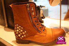 Love the studs on these lace-up boots - Oshawa Centre Style Approved by @Real Life Runway  - Find it at ALDO
