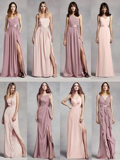 David's Bridal mix and match bridesmaids dresses that will work perfectly for your upcoming wedding. Additionally, there are a handful tips on how to find the perfect color palette and styles for your bridal party.