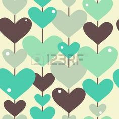 elegant seamless pattern with abstract hearts for your design photo