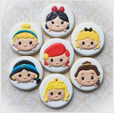 """cREEative Cookies by Ree  on Instagram: """"Disney Princesses in Tsum Tsum form…"""