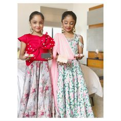 These Kids of Telugu Superstar Mohan Babu's Clan Will Steal Your Hearts With Their Style! Kids Party Wear Dresses, Kids Dress Wear, Kids Gown, Dresses Kids Girl, Frock Patterns, Baby Girl Dress Patterns, Baby Frock Pattern, Long Frocks For Kids, Frocks For Girls