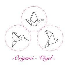 Korkstempel ›Origami – Vögel‹ - S.W.W.S.W. Stempel Kolibri Kranich Taube