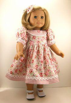 American Girl Doll Clothes 18 Inch Doll Dress by dressurdolly2, $22.00