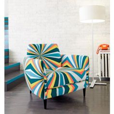 This would be amazing with my glossy enamel yellow cabinets and other two lovely yellow chairs! e