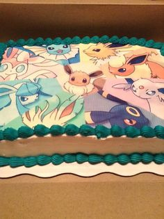 Eevee Evolutions Pokemon Birthday Cakes And Cup Cakes