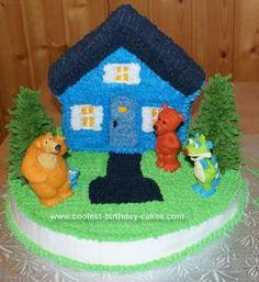 Homemade  Bear in the Big Blue House Cake @Amber McDermott-dickson