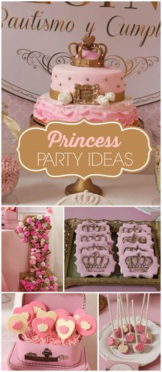 A royal queen party! With chocolate lollipops and crown cookies! See more party planning ideas at CatchMyParty.com!