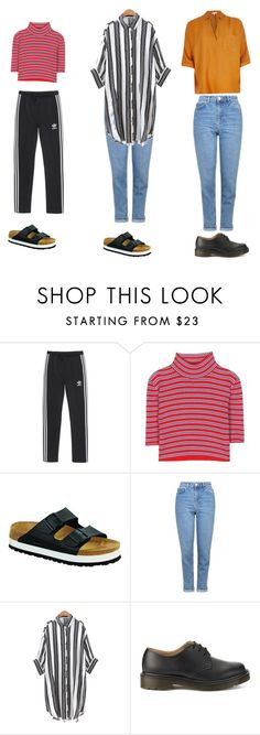 """Outfit idea"" by haawnah on Polyvore featuring adidas Originals, Alessandra Rich, Birkenstock, Topshop, Chicnova Fashion, Dr. Martens and River Island"